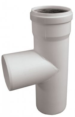 T-kus DN125 biely plast