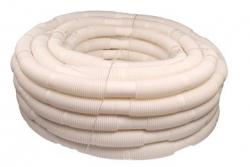 Rúra flexibilná DN80/50m biely plast