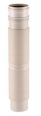 Rúra flexibilná DN60/1m biely plast