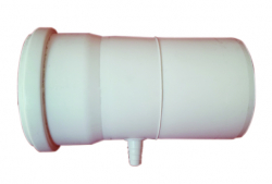 Zachytávač kondenzátu horizont. DN80 biely plast