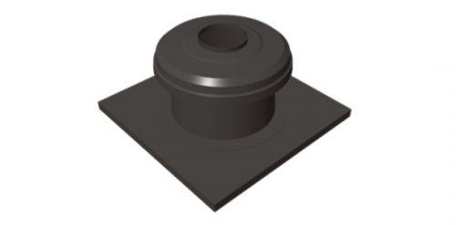 Kryt komína ukončovací DN100 čierny plast