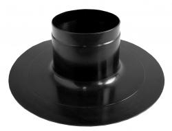 Prechod strechou rovný DN130 čierny