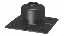 Kryt komína ukončovací DN60 čierny plast