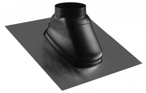 Prechod strechou 25°-50° čierny, DN125