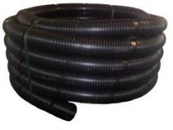 Rúra flexibilná s koncovkami DN80/30m čierny plast