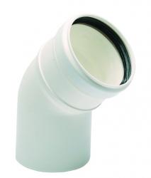 Koleno 60/45° biely plast