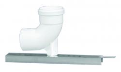 Koleno pätkové DN80 polohovateľné biely plast