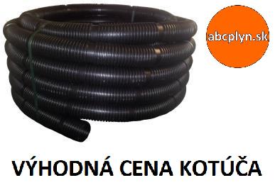 Rúra flexibilná bez koncoviek DN125/25m čierny plast
