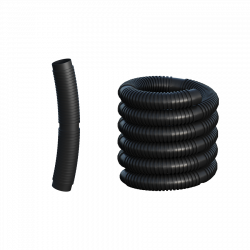 Rúra flexibilná DN80 čierny plast