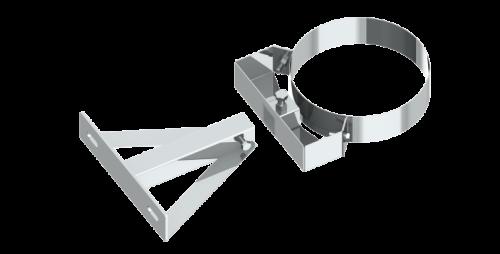 Stenový držiak nastaviteľný nerez 150-250mm/DN100