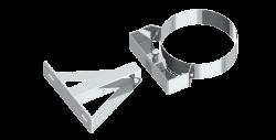 Stenový držiak nastaviteľný nerez 250-360mm/DN125
