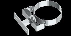 Stenový držiak nastaviteľný nerez 50-150mm/DN100