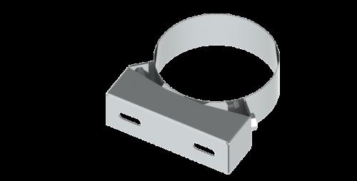 Stenový držiak pevný nerez 50mm/DN125