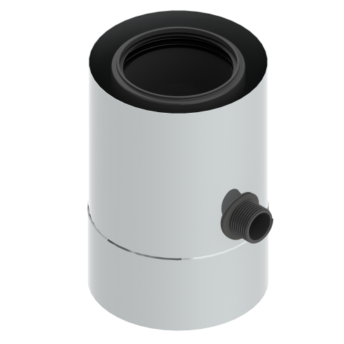Zachytávač konden.koax z výfuku 80/125 plast/nerez
