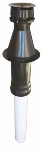 Komín vertik.koaxiálny 60/100/1150 PP/AL čierny
