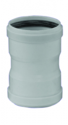 Spojka hrdlo-hrdlo DN100 biely plast