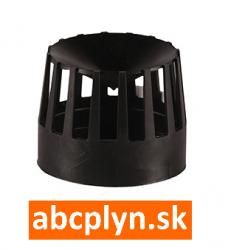 Hlavica výfuku-nasávania DN80 čierny plast